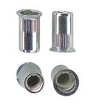 Алюминиевая гаечная заклепка (клепальная гайка) круглая с буртиком большой потай открытая