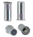 Герметичная гаечная заклепка (клепальная гайка) стальная круглая с буртиком большой потай закрытая