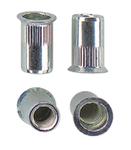 Гаечная заклепка (клепальная гайка) стальная круглая с буртиком большой потай открытая