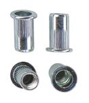 Гаечная заклепка (клепальная гайка) стальная круглая с цилиндрическим буртиком открытая