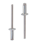 Заклепка вытяжная алюминий нержавеющая сталь А2 стандартный (плоский) буртик