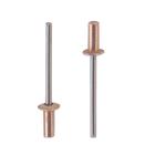 Заклепка вытяжная герметичная медь нержавеющая сталь А2 стандартный (плоский) буртик