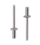 Заклепка вытяжная герметичная нержавеющая сталь А2 нержавеющая сталь А2 стандартный (плоский) буртик