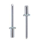 Заклепка вытяжная герметичная сталь сталь стандартный (плоский) буртик