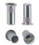 Герметичная гаечная заклепка (клепальная гайка) алюминиевая круглая с цилиндрическим буртиком