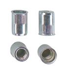 Гаечная заклепка (клепальная гайка) стальная круглая с буртиком малый потай открытая характеристики
