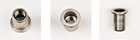 Нержавеющая из стали А4 гаечная заклепка с цилиндрическим буртиком открытого типа