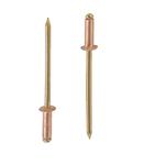 Заклепка вытяжная медь бронза стандартный (плоский) буртик