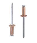 Заклепка вытяжная медь сталь стандартный (плоский) буртик