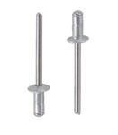 Заклепка вытяжная многозажимная алюминий нержавеющая сталь А2 стандартный (плоский) буртик