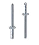 Заклепка вытяжная многозажимная сталь сталь стандартный (плоский) буртик
