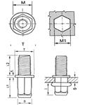 Винтовая заклепка (клепальный болт) под шестигранное отверстие