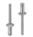 Заклепка вытяжная усиленная с двойным замком алюминий алюминий стандартный (плоский) буртик