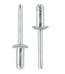 Заклепка вытяжная усиленная с двойным замком 2 сталь сталь стандартный (плоский) буртик