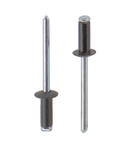 Заклепка вытяжная RAL9005 многозажимная алюминий сталь стандартный (плоский) буртик