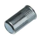Герметичная гаечная заклепка (клепальная гайка) стальная круглая с буртиком малый потай закрытая