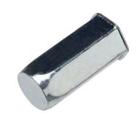 Герметичная шестигранная гаечная заклепка (клепальная гайка) стальная с буртиком малый потай