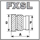 Резьбовые вставки из латуни FXSL/FXHSL