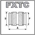 Резьбовые вставки из латуни FXТС